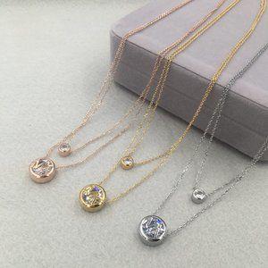 Michael Kors Logo Double Row Pendant Necklace